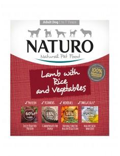 Naturo Dog Δισκάκι Σκύλου Με Αρνί, Ρύζι Και Λαχανικά 400 gr
