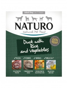 Naturo Dog Δισκάκι Σκύλου Με Πάπια, Ρύζι Και Λαχανικά 400 gr