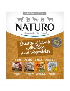 Naturo Dog Δισκάκι Σκύλου Με Κοτόπουλο, Αρνί, Ρύζι Και Λαχανικά 400 gr