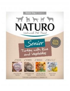 Naturo Dog Δισκάκι Σκύλου Senior Με Γαλοπούλα, Ρύζι Και Λαχανικά 400 gr