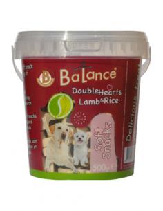 Balance Bucket Double Hearts Λιχουδιές Εκπαίδευσης Με Αρνί Και Ρύζι 500 gr
