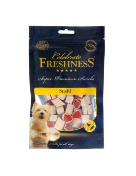 Celebrate Freshness Λιχουδιά Σκύλου Σούσι Με Κοτόπουλο Και Ψάρι 100 gr