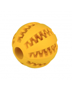 Gloria Dental Toy Παιχνίδι Σκύλου Μπάλα Λιχουδιάς Κίτρινη