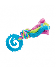 Puppy TPR Toy Wheel Παιχνίδι Για Κουτάβια Μπλε